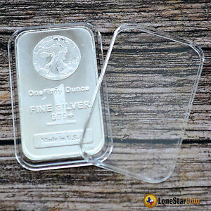 10 Air Tite Direct Fit Coin Holder Capsule For 1 Oz Silver