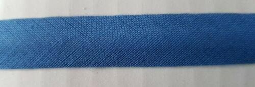 Cinta de unión de sesgo de Algodón Azul 15 mm Ancho Elige Longitud