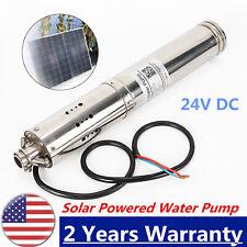 Solar Powered Water Pump 24v Submersible Bore Hole Deep Well Water Pump Farm Usa