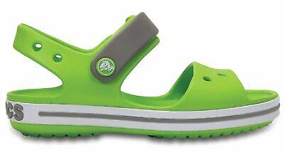 Crocs Kinder Sport Freizeit Sandale Schuhe Kids' Crocband™ Sandal Grün Weis SchüTtelfrost Und Schmerzen