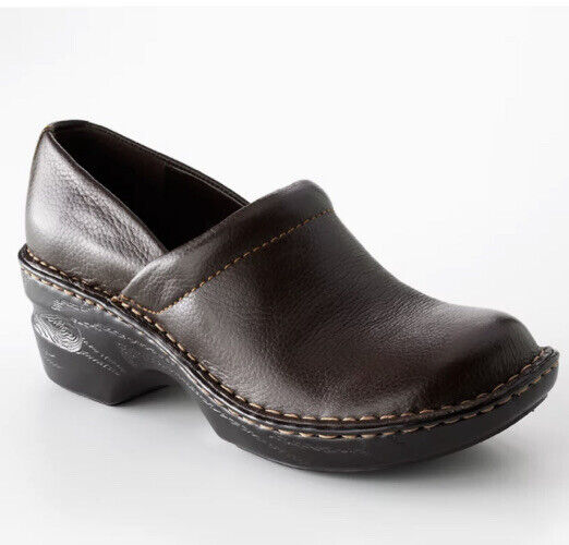 Sonoma Good For Life Leather Clogs Size 6 Brown Comfort Shoes Slip On