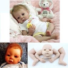 Reborn Doll Kit Blank Soft Vinyl Head 3/4 Limbs Lifelike Realistic Doll Kits DIY