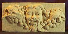 Décoration Grecque murale en pierre - Bacchus, Dieu du Vin