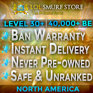 League-of-Legends-Account-LOL-NA-Smurf-40-000-BE-Level-30-Unranked