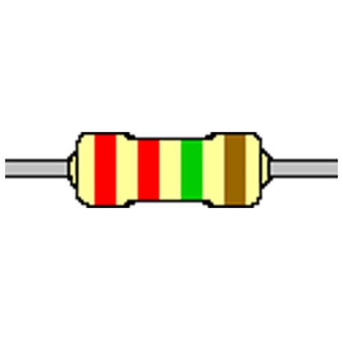 Kohleschicht-Widerstand 2,2 MOhm 5/% 0,25W Bauform 0207 gegurtet