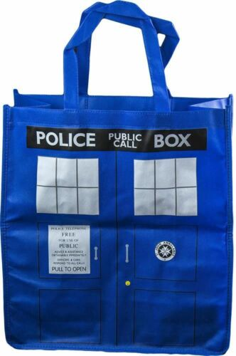 1 of 1 - *NEW* Dr Doctor Who Blue TARDIS TOTE BAG - Ikon - Official BBC Merchandise