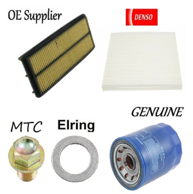 Tune Up Kit Cabin Air Oil Filters Plug Gasket For Acura RL