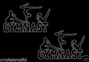 2x-Gymnast-3-Dansers-Iron-On-Rhinestone-Transfer-Hotflix-t-shirt-applique