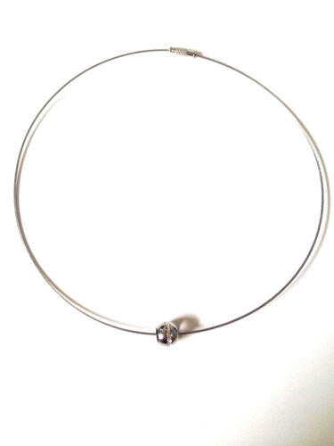 Coolbodyart Damen Edelstahl Halskette silber Anhänger schwarz mit Herzen und ...