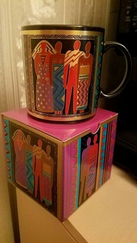 "Laurel Burch /""Tribal Spirit/"" Stoneware Mugs new with box Vintage"