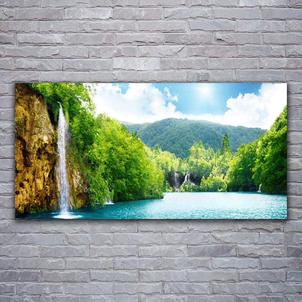 Acrylglasbilder Wandbilder aus Plexiglas® 120x60 Gebirge Wald See Landschaft