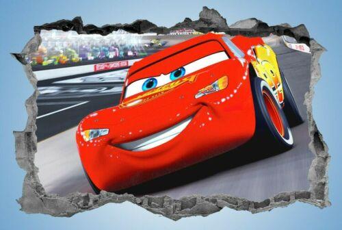 Cars,Sticker,Kids,3D,Lightening McQueen,Wall Art,Bedroom,Decal,Mural