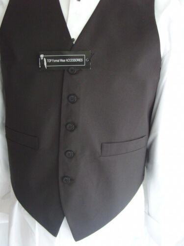 """Homme Soie Noir Gilet-pour s/'adapter 58/"""" tour de poitrine Black Bow Tie /> p/&p 2UK />/> 1st Classe"""