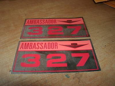 1963 1964 AMC RAMBLER AMBASSADOR 287 VALVE COVER DECALS