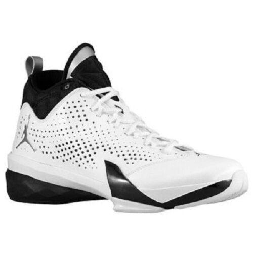 Men's Jordan Flight Time 14.5 Basketball shoes, 654272 103 Sizes 8.5&10 Wht Blk