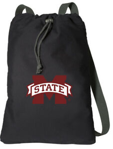 b24103b9ee04 Details about Mississippi State Backpack MSU Cinch Bag Pack COMFORTABLE  COTTON! WIDE STRAPS!