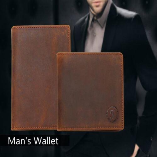 ID Card Holder Slim Purse Bifold Wallet Men/'s Genuine Handmade Leather Credit