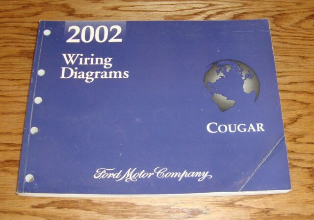 Original 2002 Mercury Cougar Wiring Diagrams Evtm 02 Ebay