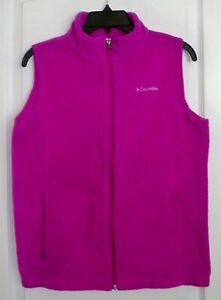Columbia-Fuchsia-Deep-Pink-Womens-Benton-Springs-Fleece-ZiP-Vest-Size-XL-NEW