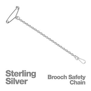 Sterling-Silver-Brooch-Safety-Chain-OR-Spare-Pins-and-Clips