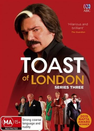 1 of 1 - Toast Of London : Series 3 (DVD, 2016) Genuine & unSealed (D117/D168/D170)