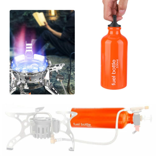 Gas Oil Fuel Bottle Container Camping Emergency Petrol Gasoline Canister 530 ML