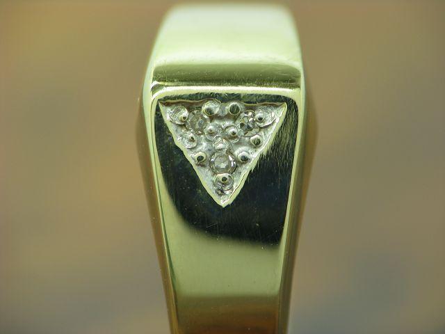 14kt 585 oro ANELLO con guarnizione in diamante 1 6g 6g 6g RG 54 17c563