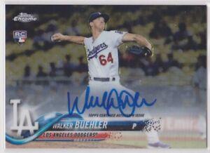 2018-Topps-Chrome-Baseball-Walker-Buehler-Auto-Rookie-Card-LOS-ANGELES-DODGERS