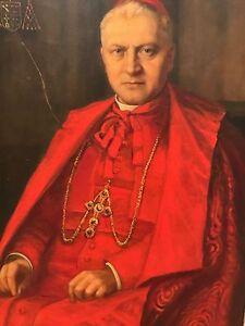 Antique Portrait Oil Painting of Catholic Cardinal Man or ...