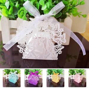 Details About 50pcs 3d Butterfly Candy Box Wedding Party Favors Decorative Sweet Boxes Hotsale