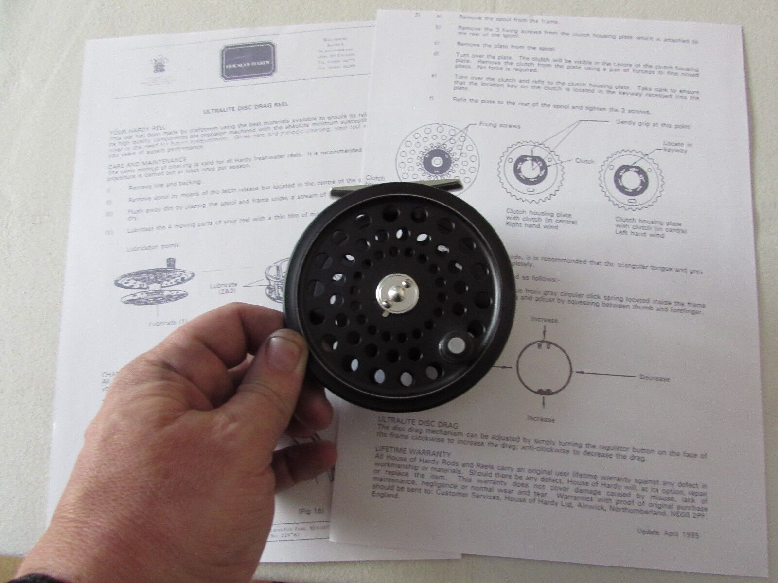 Stunning  unused hardy ultralite disc salmon fly fishing reel 4  etc  check out the cheapest