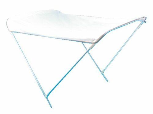 Talamex Bimini Top 2 Armen weiß Alu Sonnenverdeck UV Sonnenschutz Schlauchboot