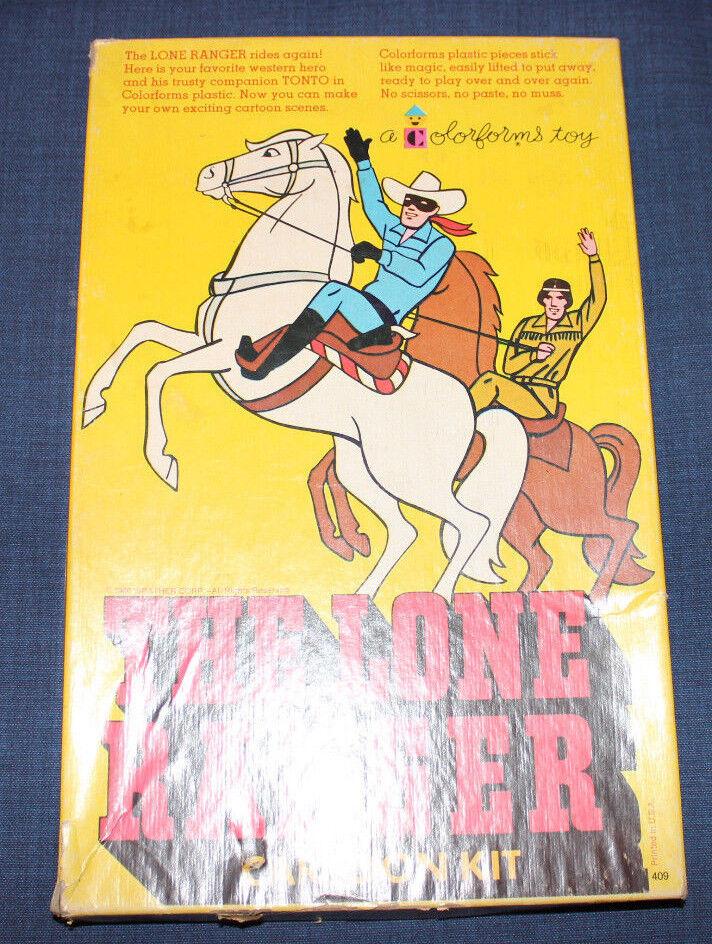 1966 VINTAGE ORIGINAL TV SHOW LONE RANGER CARTOON KIT COLORFORMS COMPLETE BOX