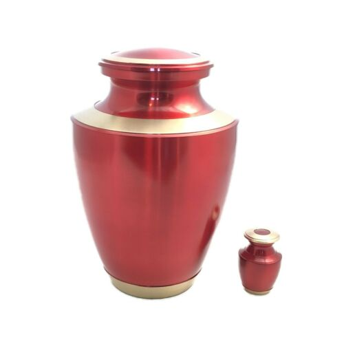 Well Lived® Red Metallic Small Keepsake Cremation Urn for human ashes