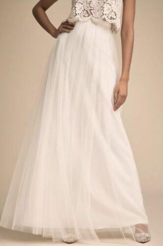NEW $220 BHLDN Jenny Yoo Louise Ivory Wedding Tulle Long Maxi Skirt
