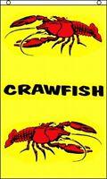 Crawfish Vertical Flag 3x5 Ft Crawdads Crayfish Restaurant Banner Sign Cajun