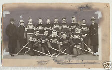 1929-30 Original Senior MONTREAL CANADIENS Hockey Photo Rare Old Vtg + Newspaper