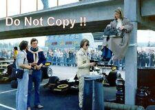 Ronnie Peterson & Barbro Lotus F1 Portrait Swedish Grand Prix 1975 Photograph