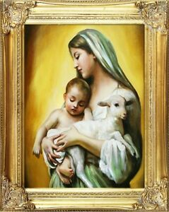 Religion-Mary-Handmade-Oil-Painting-Picture-Oil-Frame-Pictures-G00257