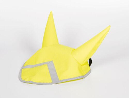 Harry/'s Horse moscas capó orejas capuchón de protoporfirina tela amarilla