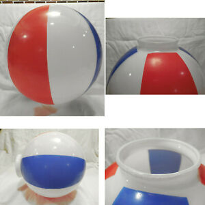 Vintage-Red-White-Blue-Striped-Round-Ball-Ceiling-Light-Globe-Glass-Shade-Lamp