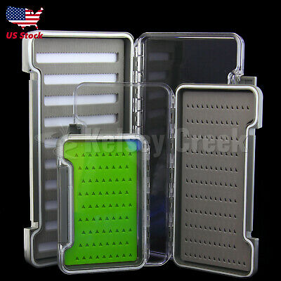 Waterproof Double-Sided Fly Box Large//Medium//Small Clear Lid