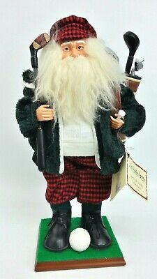 St Nicholas Square Tee Time Santa Golfer Golf Christmas Figurine Doll Ebay