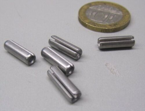 "5//32/"" Dia x 1//2/"" Length Slotted Roll Spring Pin 420 Stainless Steel 100 pcs"