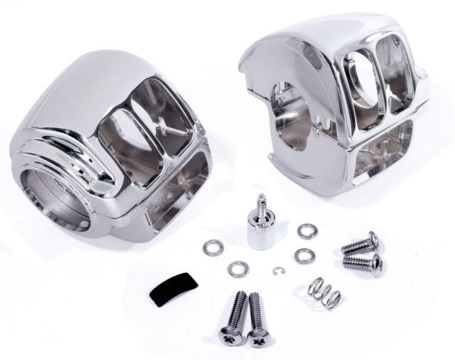 Chrom Schaltergehäuse für Harley Davidson XL Sportster Softail Dyna Fat Boy 96 -