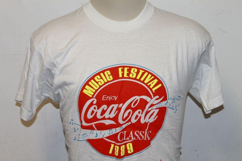 Screen Stars Coca Cola Coke Music Festival 1989 Promo Sample Ultra rare Shirt XL