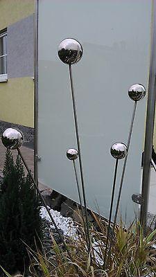 Gartenstecker Edelstahlstele Edelstahl 1 m Gartendeko Edelstahldeko stecker