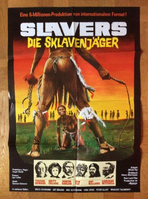Slavers - Die Sklavenjäger (Kinoplakat '78) - Trevor Howard / Britt Ekland