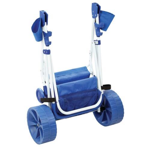 Folding Beach Cart Wagon Sand Outdoor wonder wheeler sports Wide Terrain Wheels