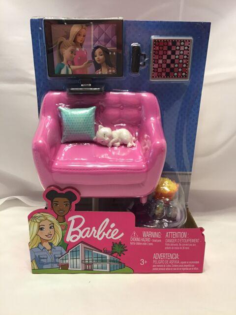 Barbie Indoor Furniture Playset - Living Room - 2018  - NEW IN PACKAGE